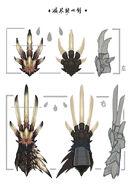MHW-Nergigante Dual Sword Concept Art 001