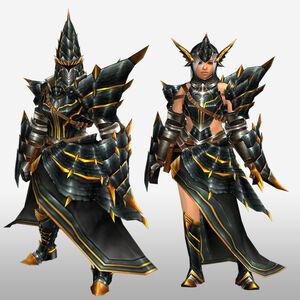 FrontierGen-Meragi Armor (Gunner) (Front) Render