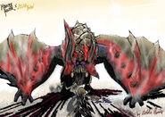 Massacre Demon Diablos (Zelda BotW) by ZeldaHunter