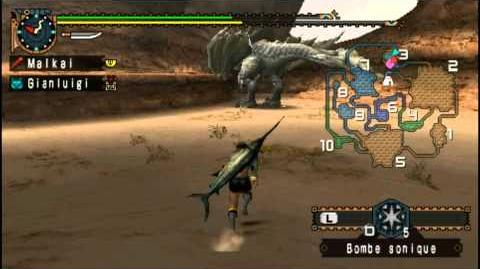LP 4 21 Chassons les monstres de Monster Hunter Freedom Unite Monoblos blanc