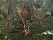 MHF Espinas vs hunters