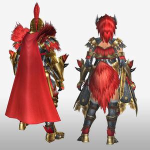 FrontierGen-Magushia Armor (Blademaster) (Back) Render