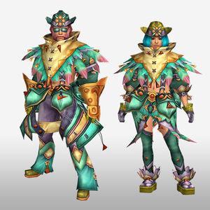 FrontierGen-Furoru Armor (Blademaster) (Front) Render