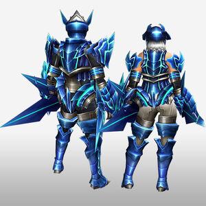 FrontierGen-Diore Armor (Gunner) (Back) Render