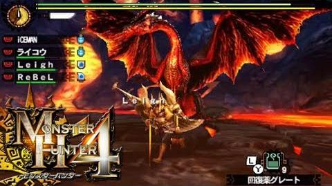 Let's Play Monster Hunter 4 121 - Crimson Fatalis English commentary online gameplay
