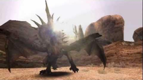 "Monster Hunter Freedom -- ""Cornered Monoblos"" (Monoblos Intro)"