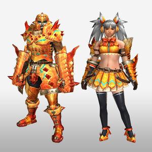 FrontierGen-Zamuza Armor (Gunner) (Front) Render