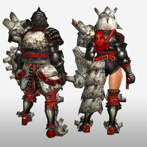 FrontierGen-Gurabido G Armor (Gunner) (Back) Render