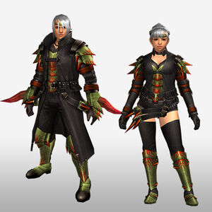 FrontierGen-Espina G Armor (Blademaster) (Front) Render
