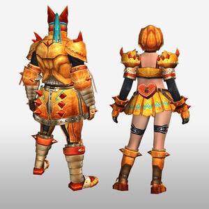 FrontierGen-Zamuza Armor (Blademaster) (Back) Render