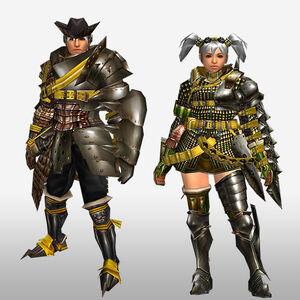 FrontierGen-Geneposu G Armor (Gunner) (Front) Render