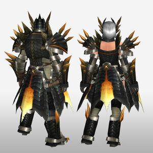 FrontierGen-Ruko Armor (Blademaster) (Back) Render