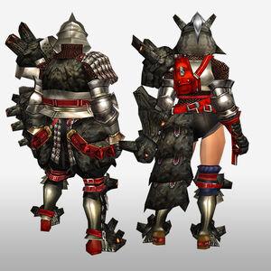 FrontierGen-Gurabide G Armor (Gunner) (Back) Render