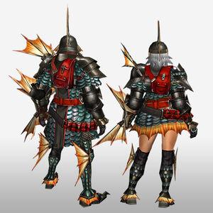 FrontierGen-Gareosu G Armor (Gunner) (Back) Render