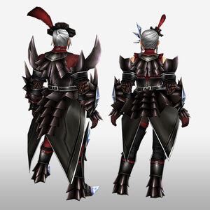 FrontierGen-Akura G Armor (Blademaster) (Back) Render