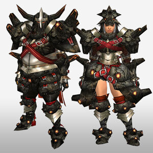 FrontierGen-Gurabide G Armor (Blademaster) (Front) Render