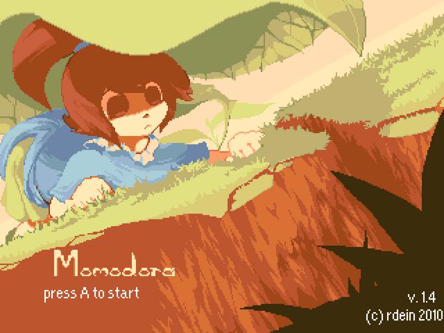 File:Momodora title screen.png