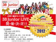 3B Junior LIVE 2012 Flyer