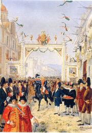 Entrada triunfante de Agustin de Iturbide