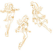 Angel's Friends - Raf Expression Sketches - 1