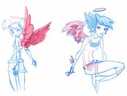 Angel's Friends - Early Raf Concept Art Sketch by Igor Chimisso - 4