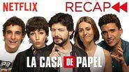 La Casa De Papel (Money Heist) Cast Recaps Seasons 1 & 2 Netflix
