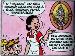Dona Cotinha com a foto da sua vó, Dona Ismerarda