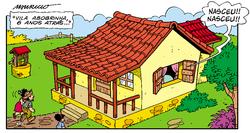 Casa do Chico em Chico Bento N425. na historinha 'Dois Aniversários, Duas Vidas'