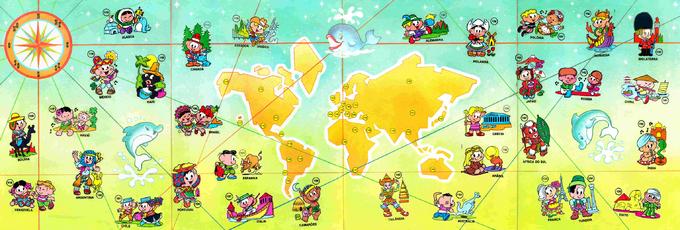 Países do mundo, Álbum da Mônica (1979)