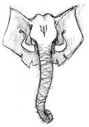 Esboço de um elefante por Emerson