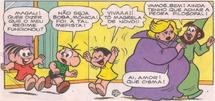 Mônica, Cebolinha, Magali, Mefista e Quimério em 'Meu Fofo Amor'