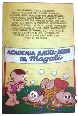Almanque magali 14 contracapa