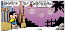 Chico observa as estrelas pensando em Mariana