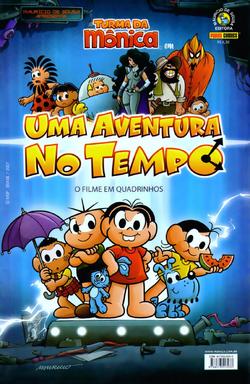 Turma da Mônica em Uma Aventura no Tempo (o Filme em Quadrinhos) - Capa