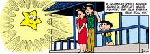 Mariana, como estrela, e sua família