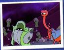 Figurinha dos Piratas Espaciais no Livro Ilustrado (01)