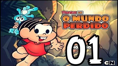 Mônica Em O Mundo Perdido 01 MAGALI COMEU AS FRUTAS DO MONTRO ( A Turma Da Mônica )-0