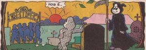 O Cemitério em 'Descanse em Paz', de Cebolinha n133, da Globo