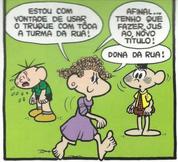 Tônica antiga em 'A Dona da Rua', de Mônica N2 (Ed. Abril)