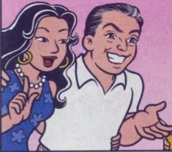 Alice Takeda e Mauricio de Sousa nos quadrinhos