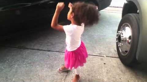 Little girl cursing at teacher