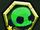 Green Skeleton Head