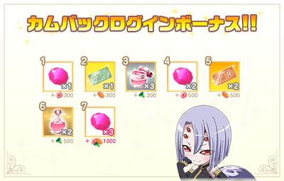 Returning login rewards