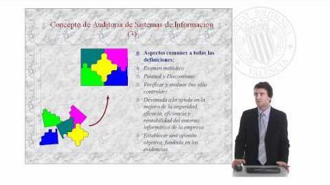 Concepto de auditoría de sistemas de información.© UPV