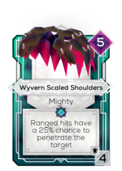 Wyvern Scaled Shoulders