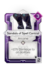Sandals of Spell Control