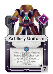 Artillery Uniform