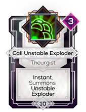 Call Unstable Exploder