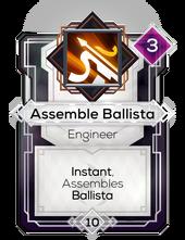 Assemble Ballista