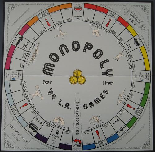 Monopoly 84 LA Games board